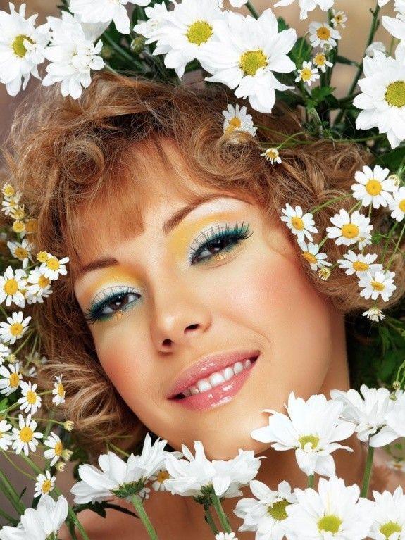 flowers & woman